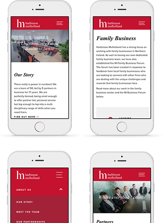 Harbinson Mulholland - mobile layouts