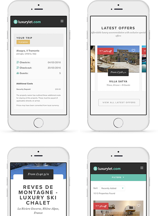 Luxury Let - mobile layouts